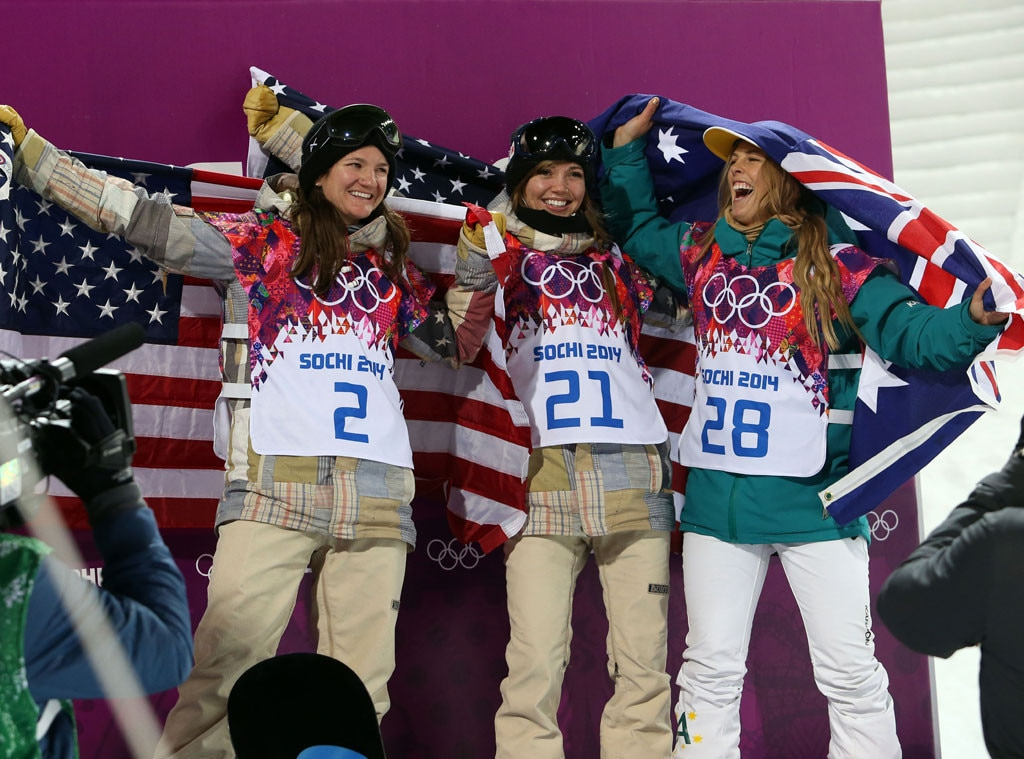 Kaitlyn Farrington, Torah Bright, Kelly Clark, Sochi Winter Olympics