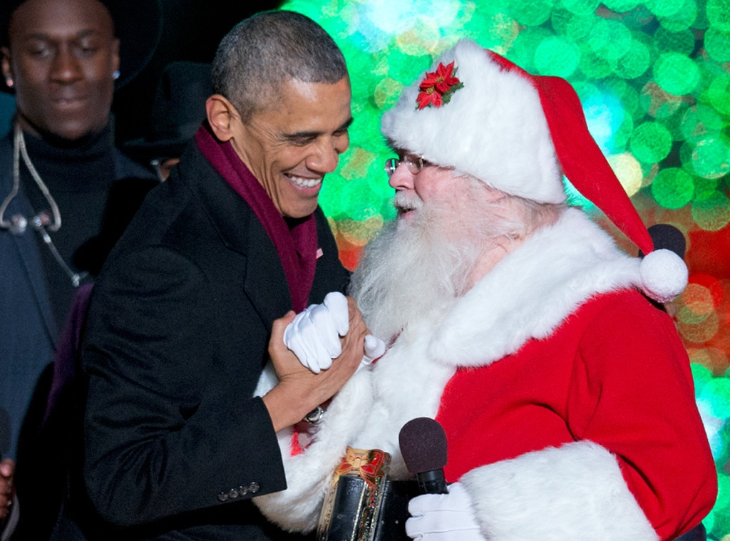 Barack Obama, Santa Claus, Tree Lighting