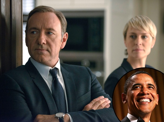 House of Cards, Robin Wright, Kevin Spacey, Barack Obama