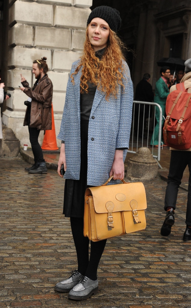 Strike A Pose From London Fashion Week Fall 2014 Street Style E News
