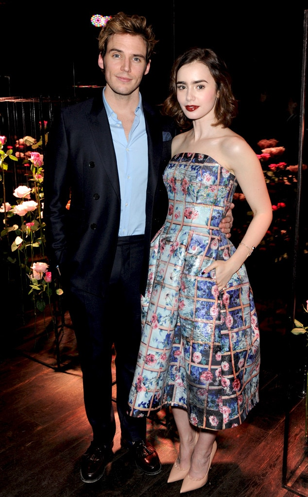 Sam Claflin & Lily Collins from Stars at London Fashion ...
