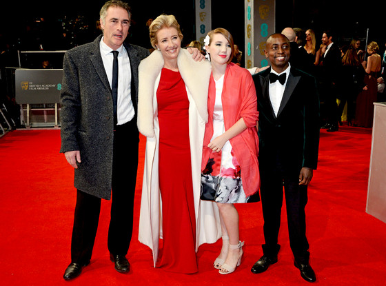 Greg Wise, Emma Thompson, Gaia Wise and Tindyebwa Agaba Wise, BAFTA Film Awards 2014