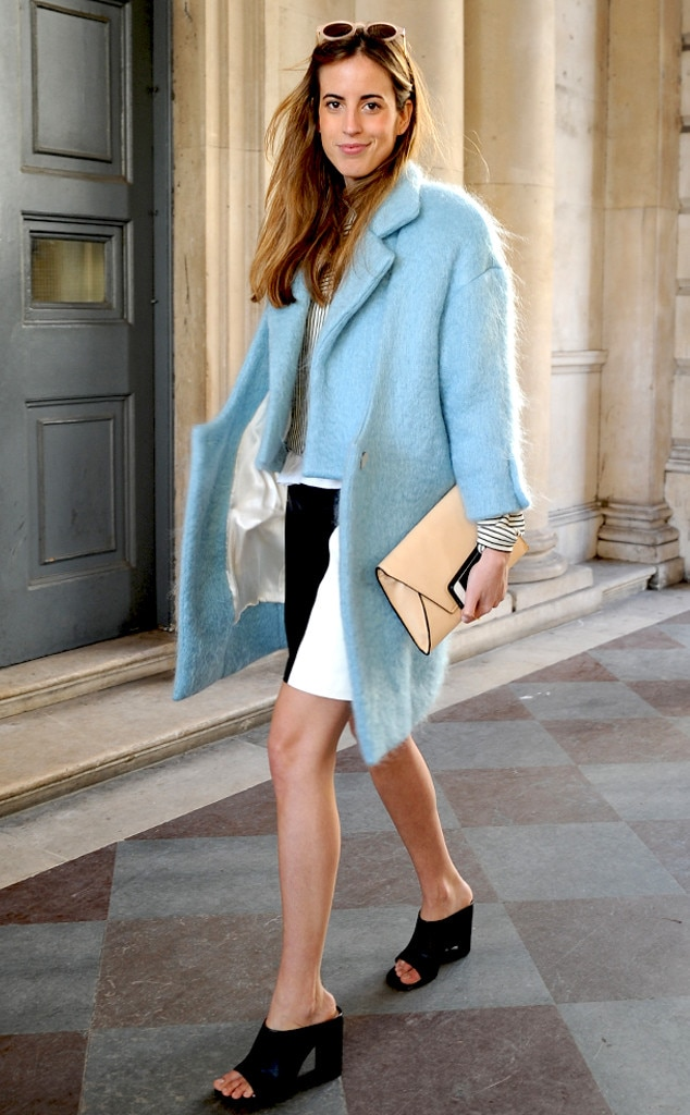 Blue Breezy From London Fashion Week Fall 2014 Street Style E News