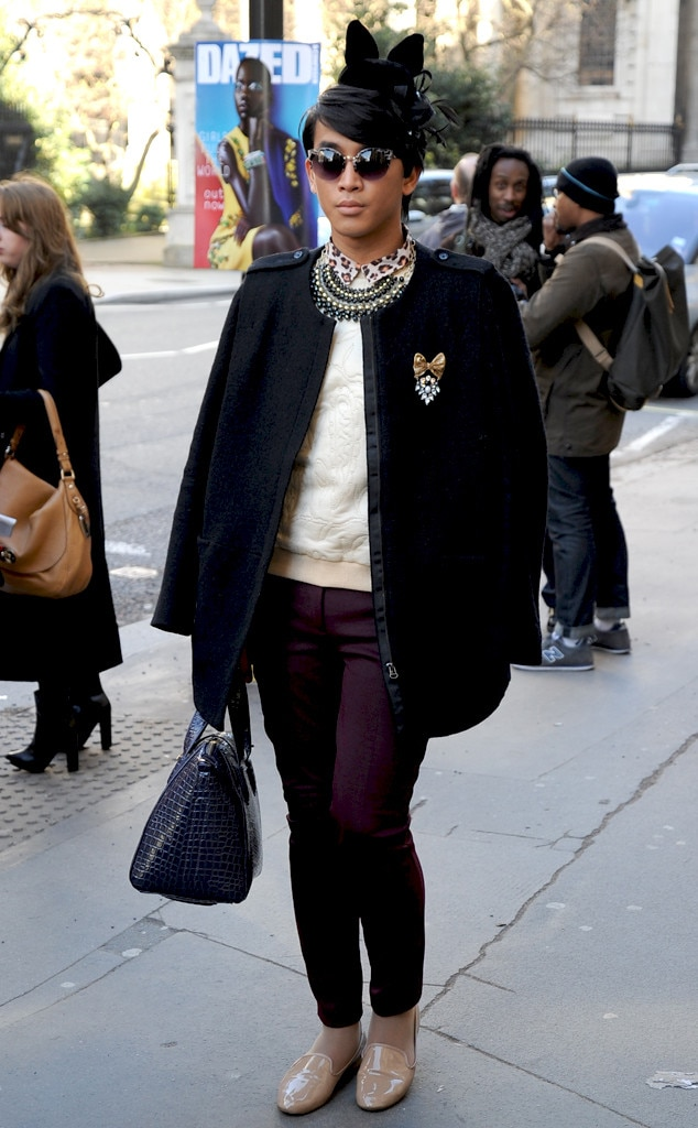Hat Trick From London Fashion Week Fall 2014 Street Style E News