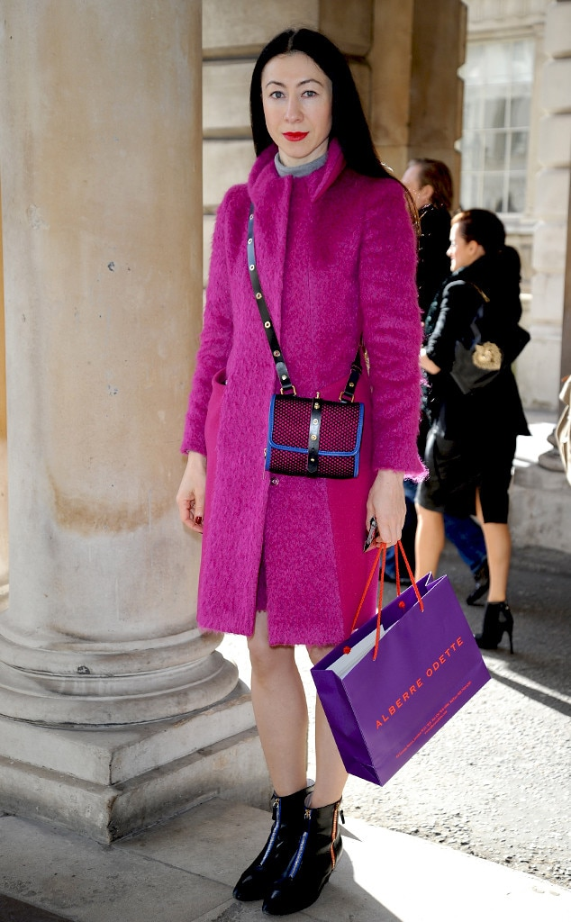 Magenta Maven From London Fashion Week Fall 2014 Street Style E News