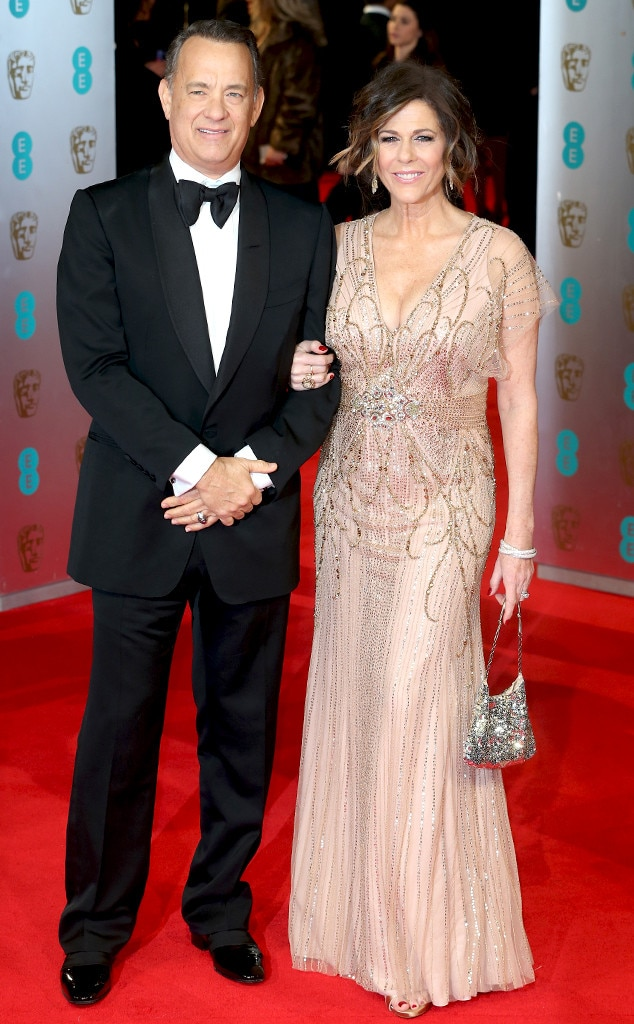 Tom Hanks, Rita Wilson, BAFTA Film Awards 2014