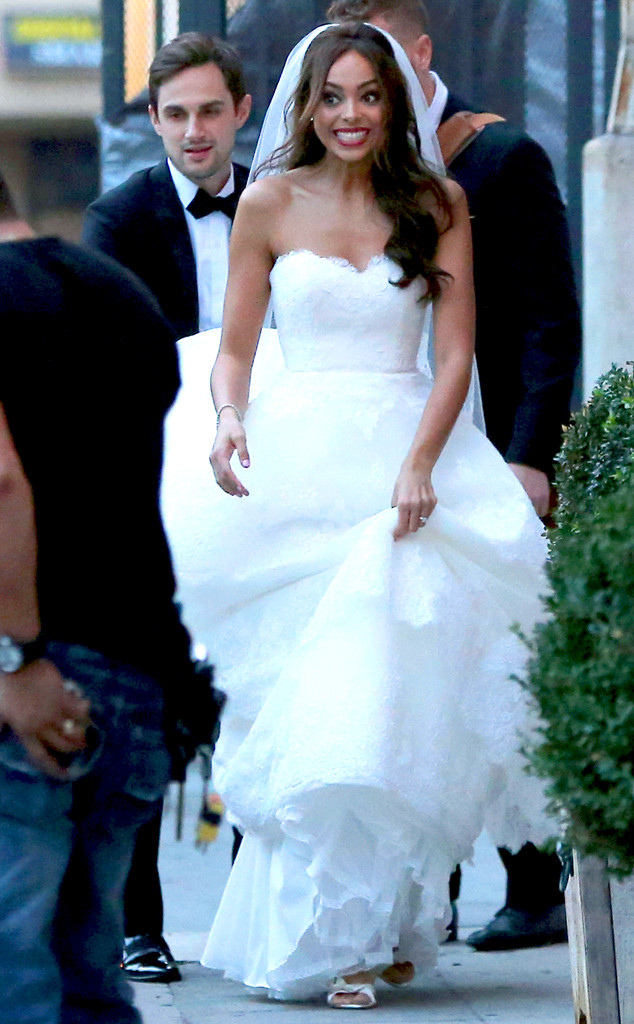 Greek Wedding Amber Stevens Marries Andrew J West The Walking Dead S Gareth See The Photos