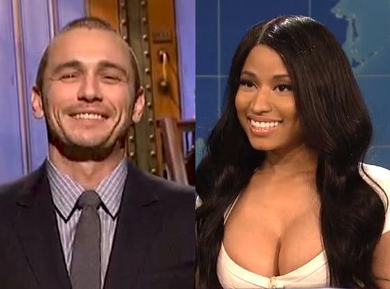 James Franco Hosting Snl >> James Franco Hosts SNL and Makes Out With Actor, Nicki Minaj Spoofs Kim Kardashian & Beyoncé ...