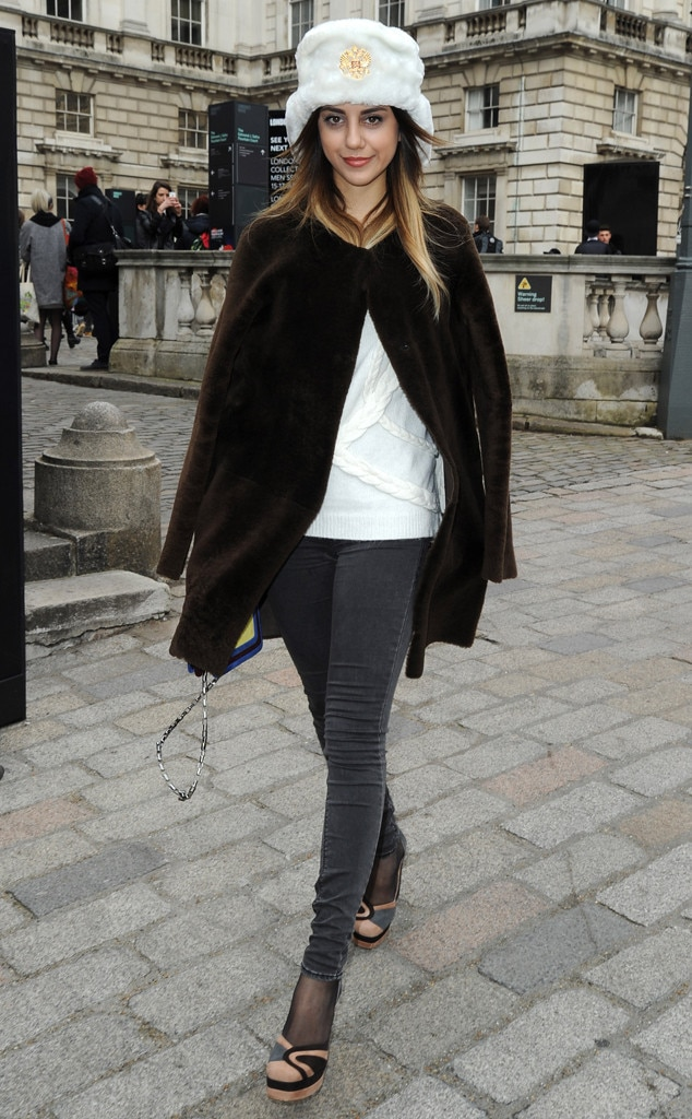 White Topper From London Fashion Week Fall 2014 Street Style E News