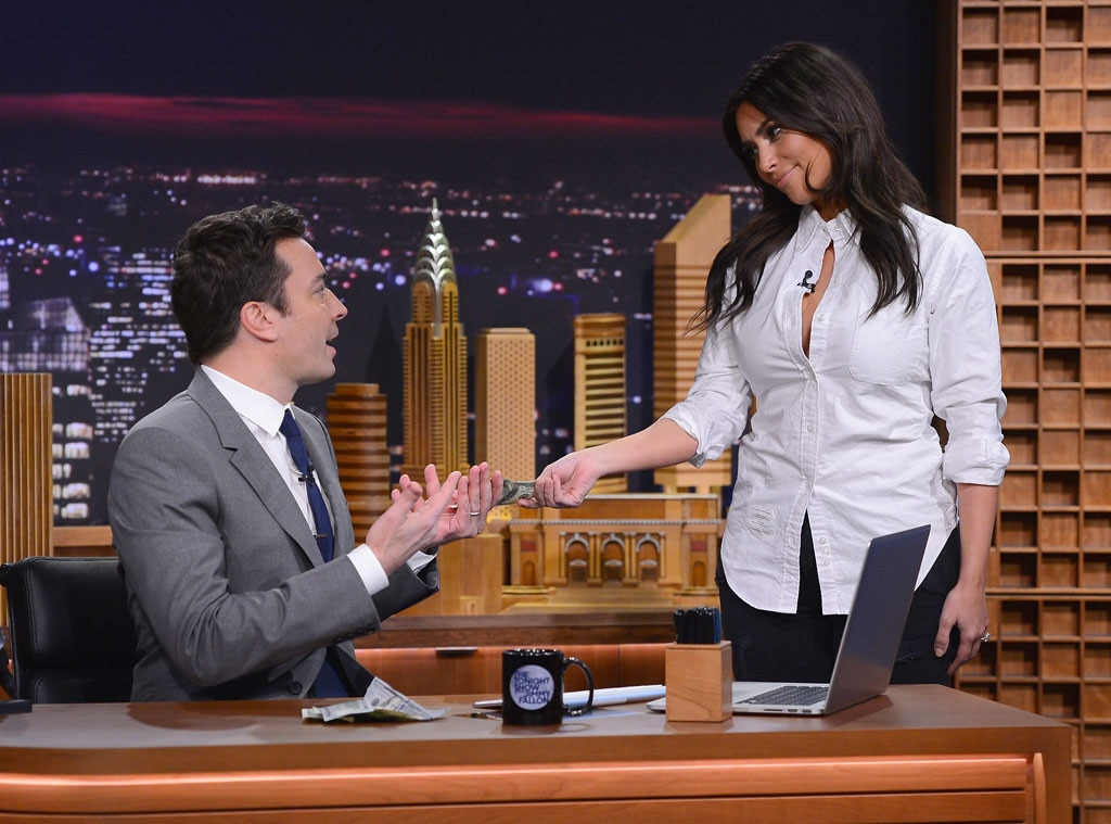 Kim Kardashian, Jimmy Fallon, Tonight Show