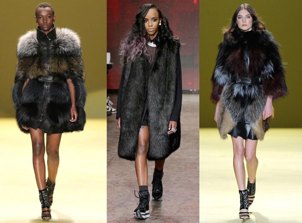 Fur, DKNY, J. Mendel