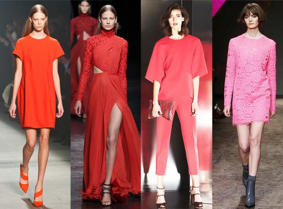 Reds & Pinks: DKNY, Escada, Prabal Gurung, Narcisco Rodriguez