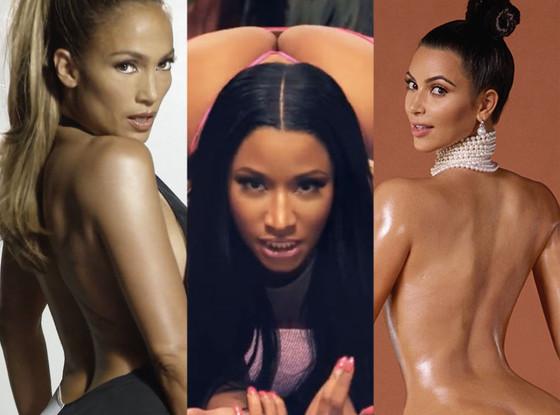 Kim Kardashian, Nicki Minaj, Jennifer Lopez, Year of the Booty