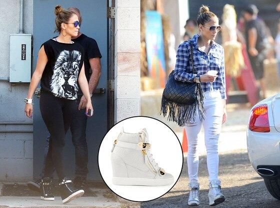 Celeb Sneakers, Jennifer Lopez