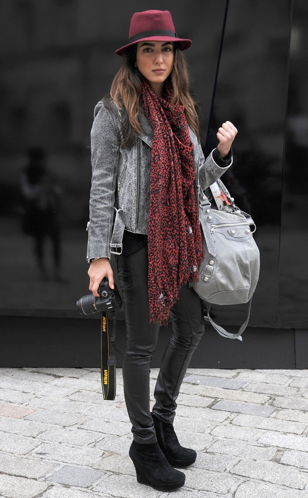 Maroon Mood From London Fashion Week Fall 2014 Street Style E News