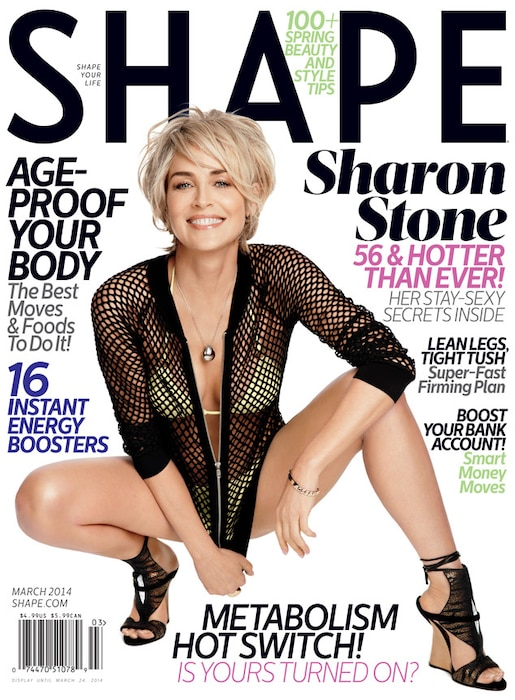 Sharon Stone, Shape Magazine