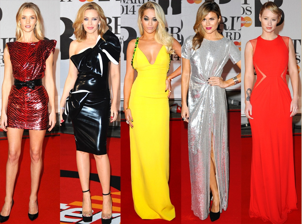 Brit Awards, Rosie Huntington-Whitely, Rita Ora, Kylie Minogue, Zoe Hardman, Iggy Azalea
