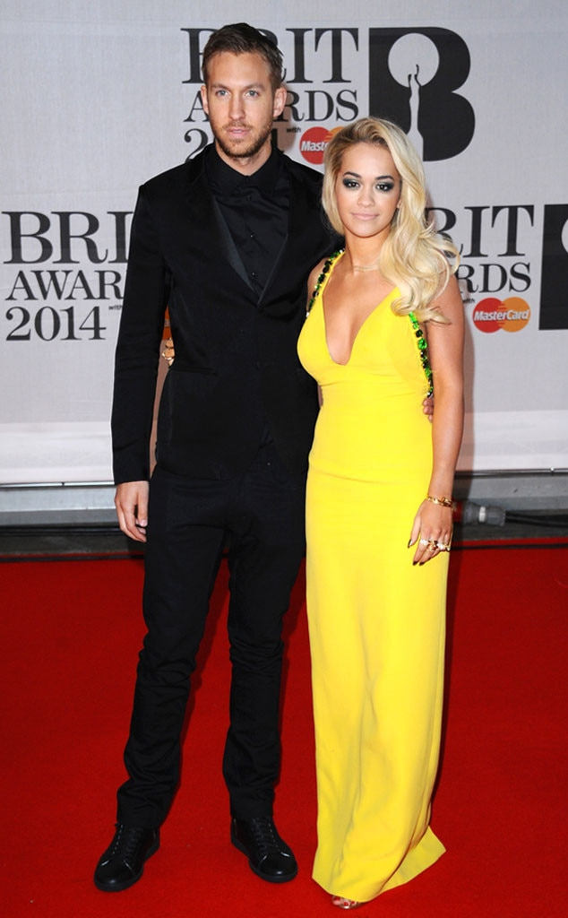 Calvin Harris with ex-girlfriend Rita Ora