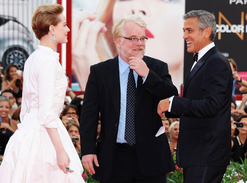 Evan Rachel Wood, Philip Seymour Hoffman, George Clooney