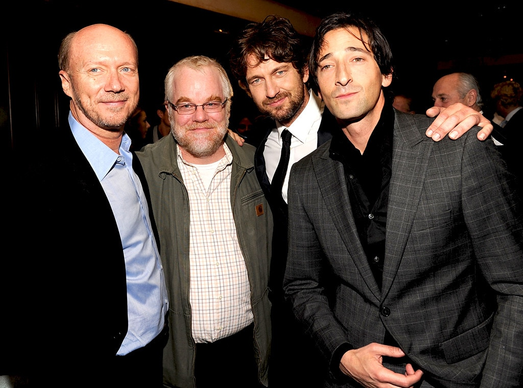 Paul Haggis, Philip Seymour Hoffman, Gerard Butler and Adrien Brody