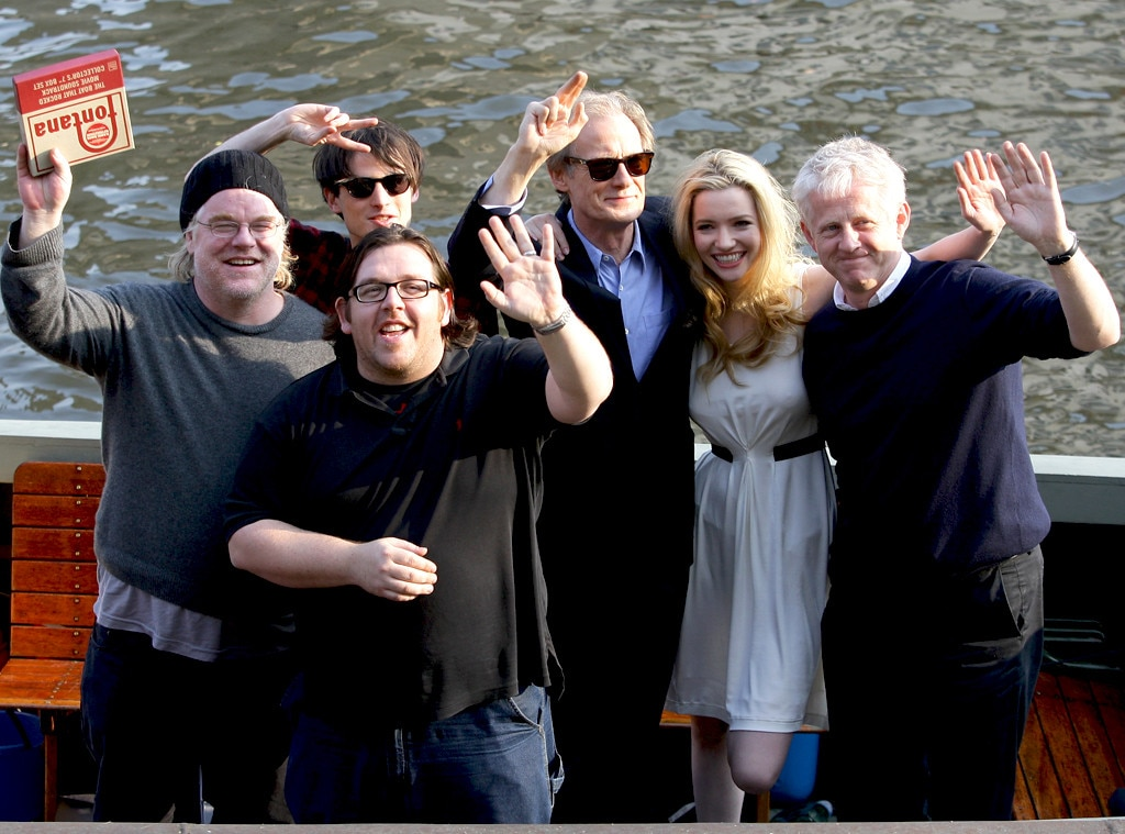 Philip Seymour Hoffman, Tom Sturridge, Nick Frost, Bill Nighy, Talulah Riley and director Richard Curtis