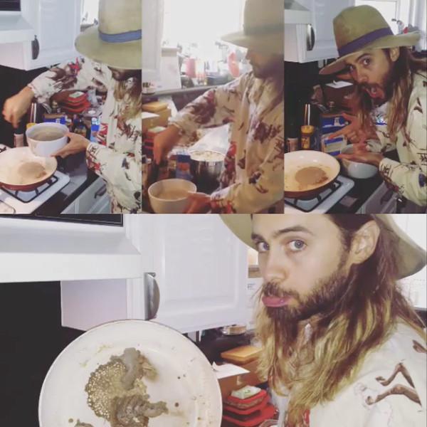Jared Leto, Instagram, Cooking