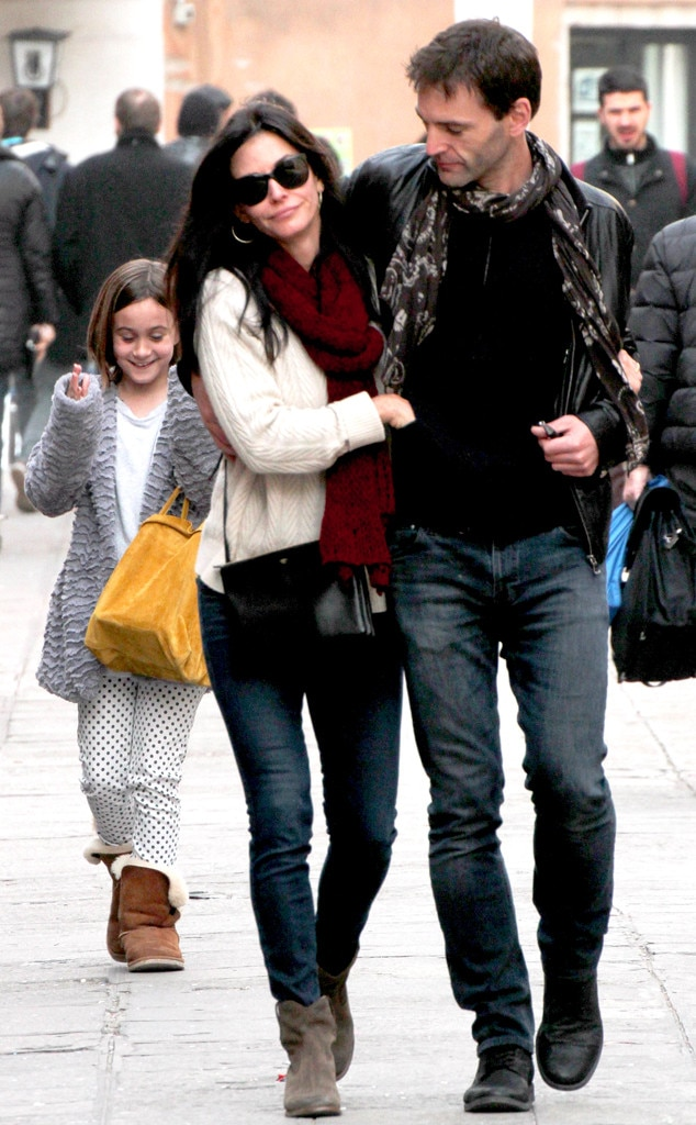 Courteney Cox, Coco Arquette, Johnny McDaid