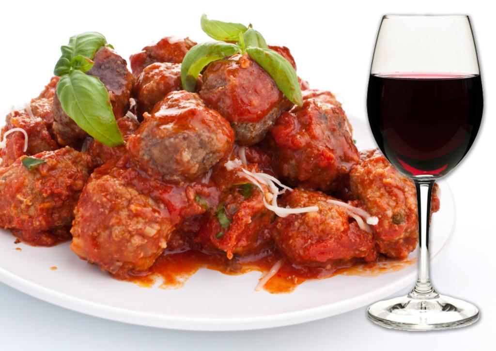 Italian Food and Wine Pairings, Meatballs in Marinara Sauce, Brunello di Montalcino