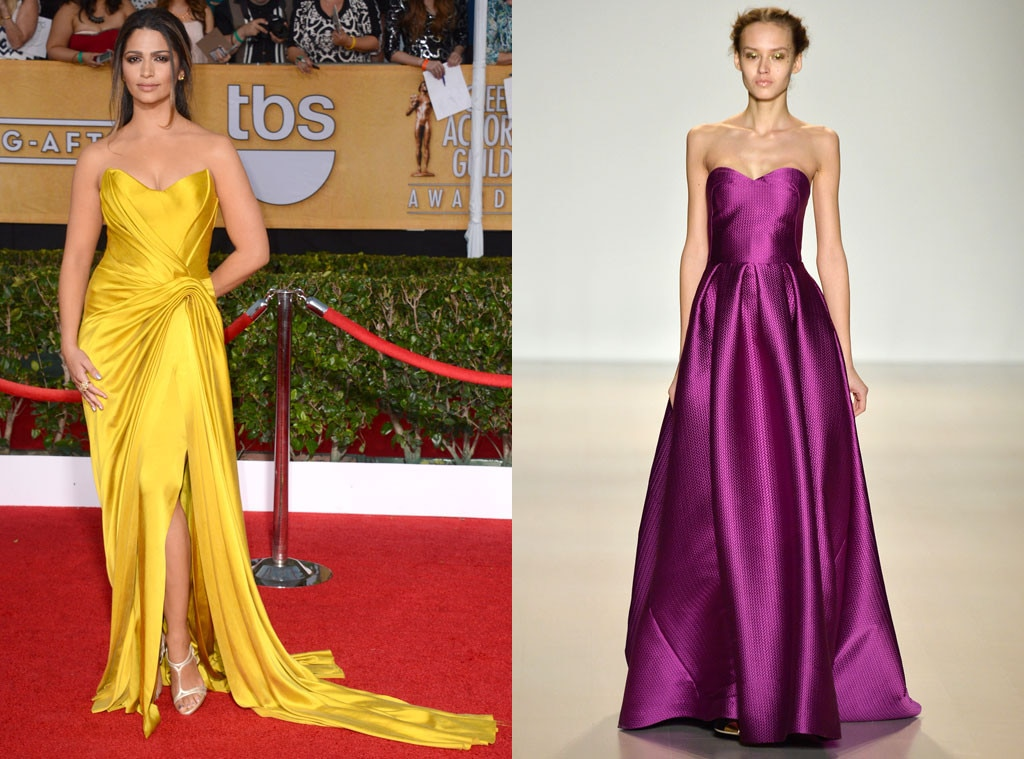 Camila Alves, SAG Awards, Lela Rose Model, Oscar Gown Predictions