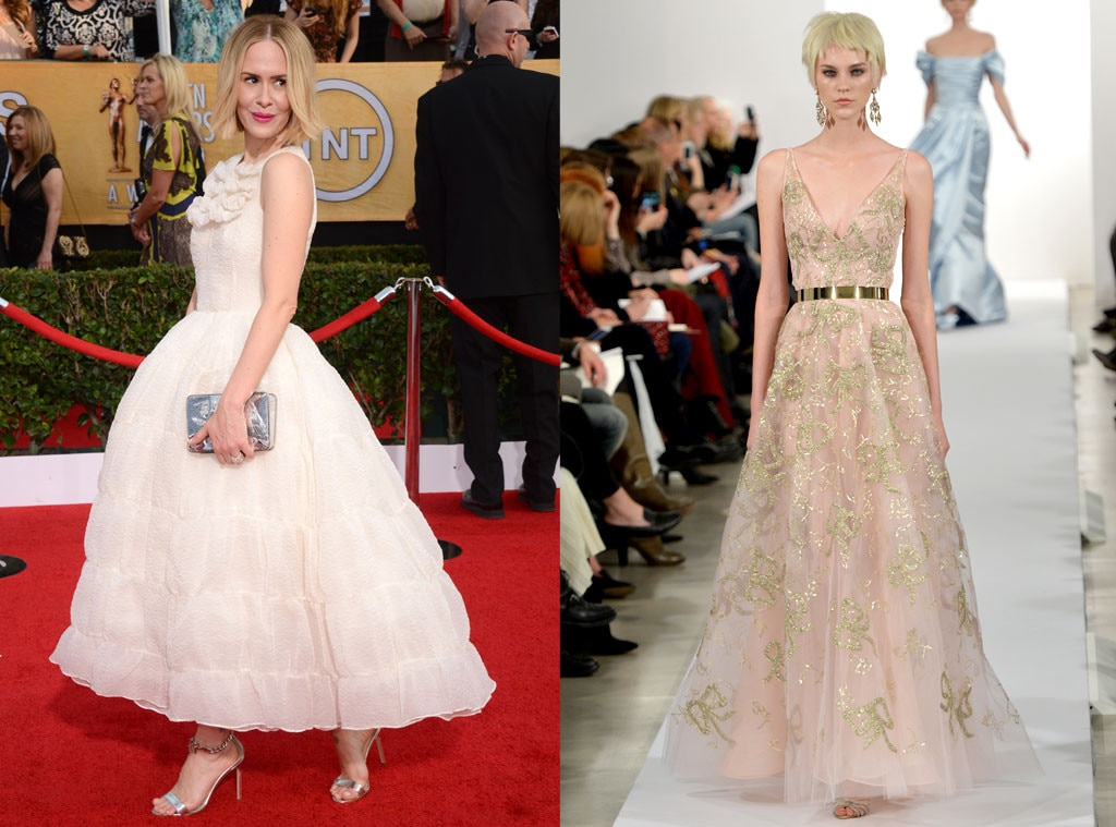Sarah Paulson, SAG Awards, Oscar De La Renta Model, Oscar Gown Predictions
