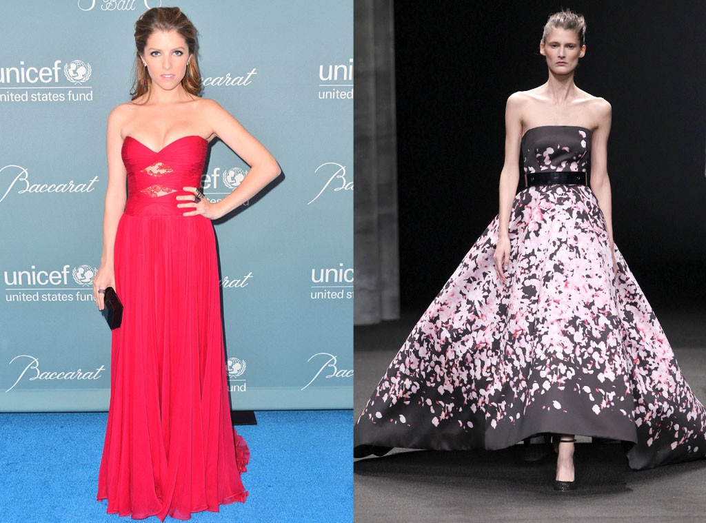 Anna Kendrick, Monique Lhuillier Model, Oscar Gown Predictions