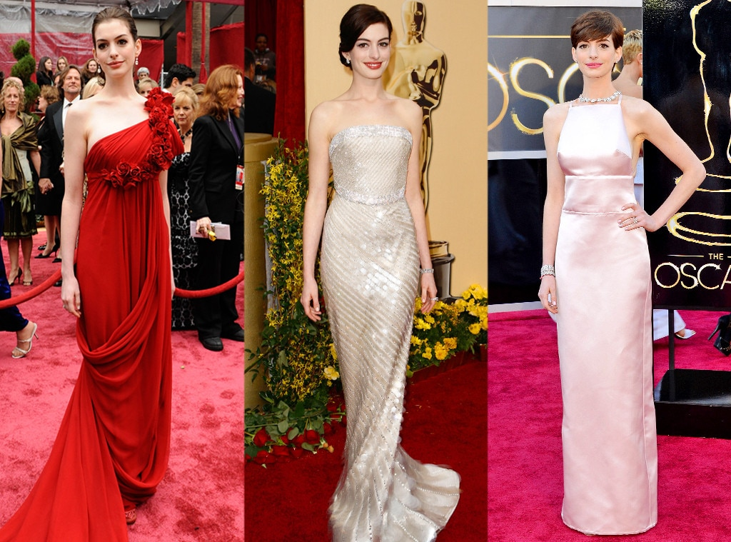 Anne Hathaway, Oscars Over the Years