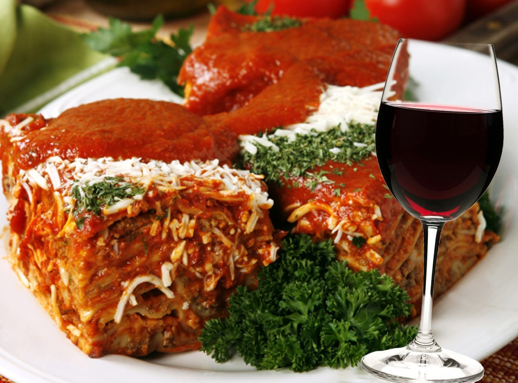 Lasagna and cabernet sauvignon from italian food and wine for About italian cuisine