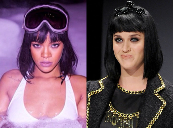 Rihanna, Katy Perry, Hair