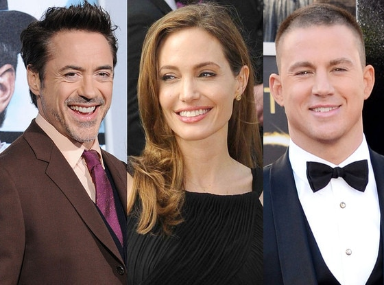 Angelina Jolie, Robert Downey Jr., Channing Tatum, Highest Paid Actors