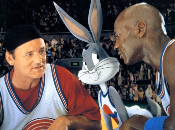 Space Jam, Bill Murray, Bugs Bunny, Michael Jordan