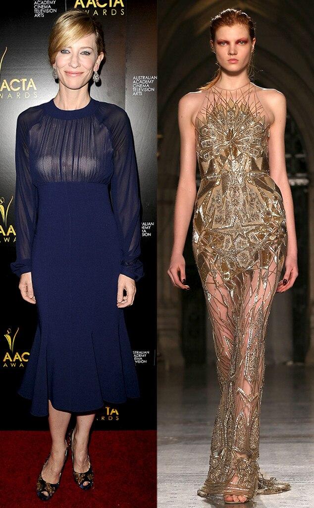 Cate Blanchett, Julien Macdonald, Oscar Gown Predictions