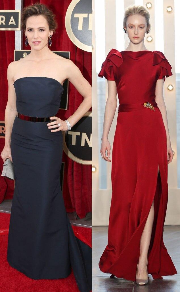 Jennifer Garner, Jenny Packham Model, Oscar Gown Predictions