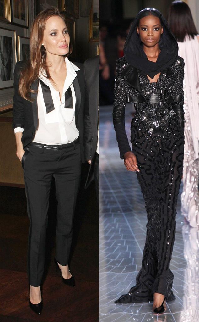 Angelina Jolie, Atelier Versace Model, Oscar Gown Predictions