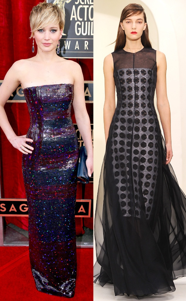 Jennifer Lawrence, SAG Awards, Christian Dior, Oscar Gown Predictions