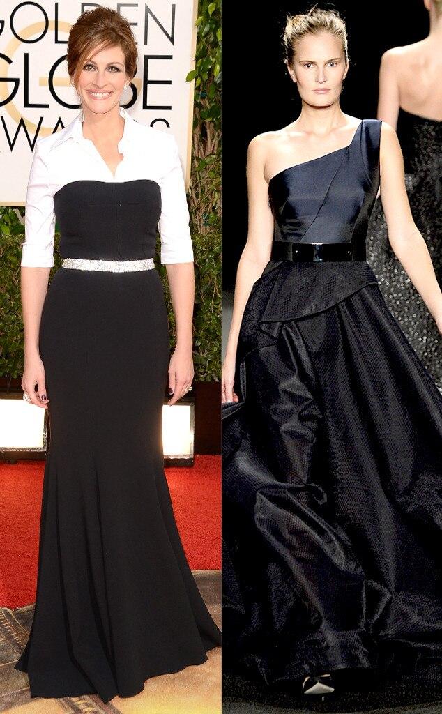 Julia Roberts, Golden Globe Awards, Monique Lhuillier, Oscar Gown Predictions
