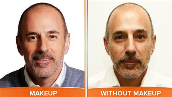 Matt Lauer, No Makeup