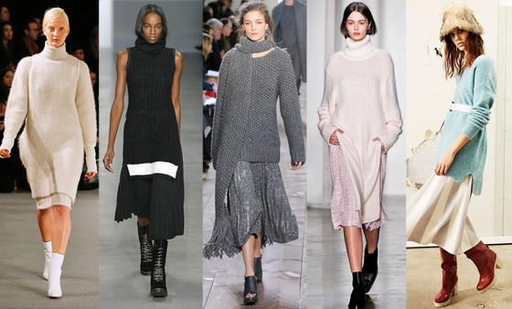 Zanna's NYFW Trends, The Styling Trick: Long Knits N Long Skirts