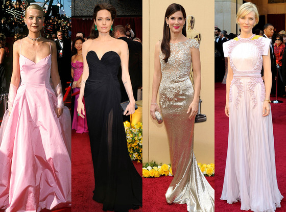 Gwyneth Paltrow, Angelina Jolie, Sandra Bullock, Cate Blanchett, Oscars Over the Years
