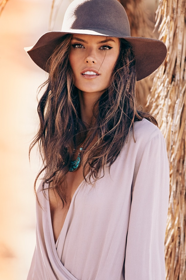 Alessandra Ambrosio Launches Fashion Line with Planet Blue ... Alessandra Ambrosio