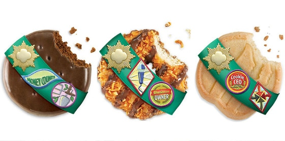 Girl Scout Cookies, Thin Mints, Samoas