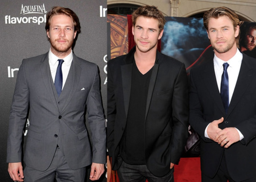 Luke Bracey, Liam Hemsworth, Chris Hemsworth