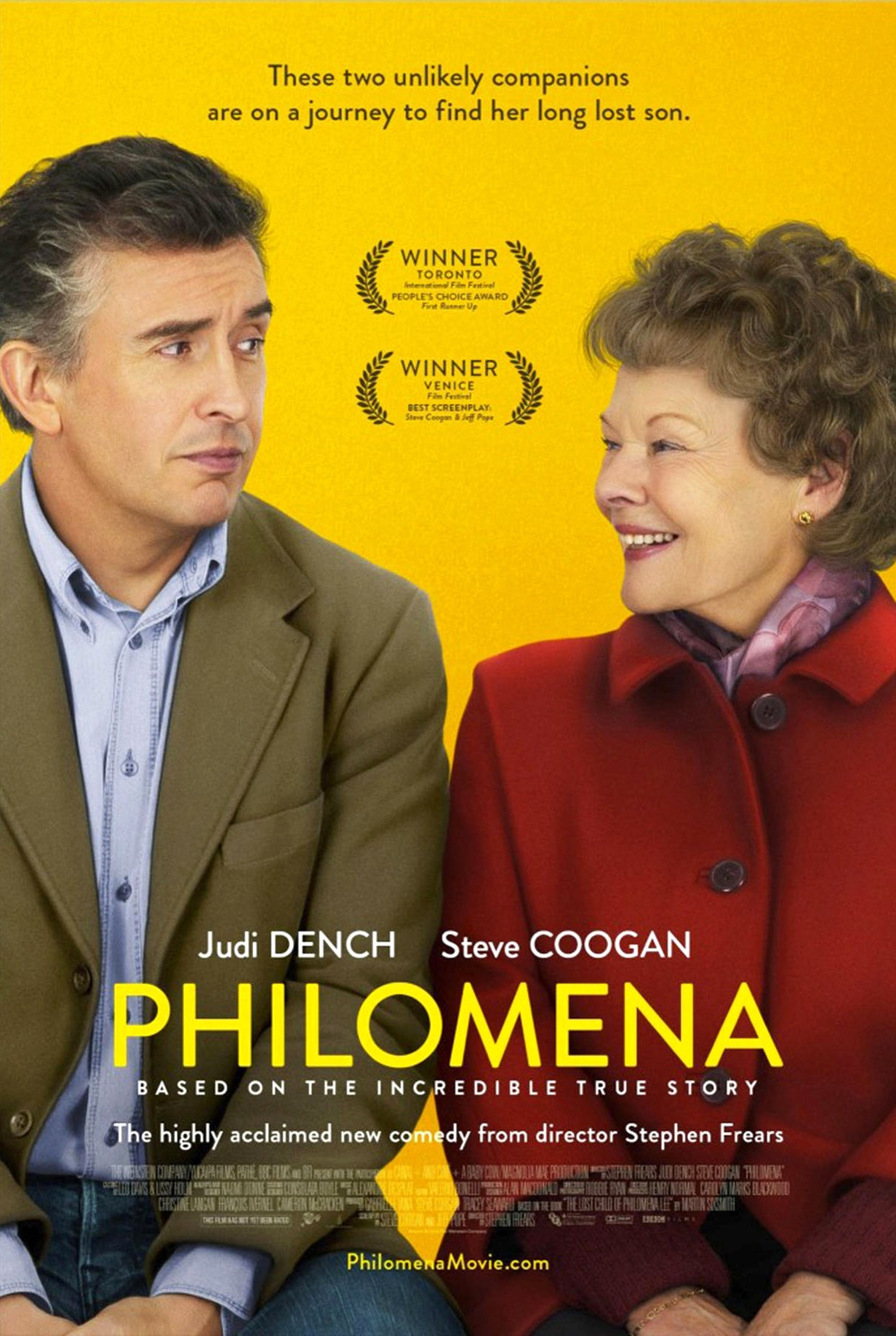 Philomena, Judi Dench, Steve Coogan, Movie Poster