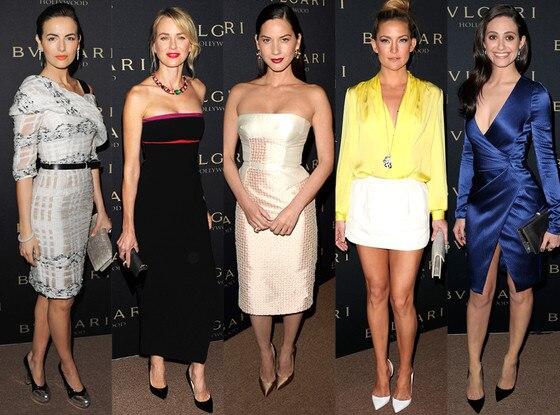 Emmy Rossum, Kate Hudson, Naomi Watts, Camille Belle, Olivia Munn, Best Dressed, BVLGARI