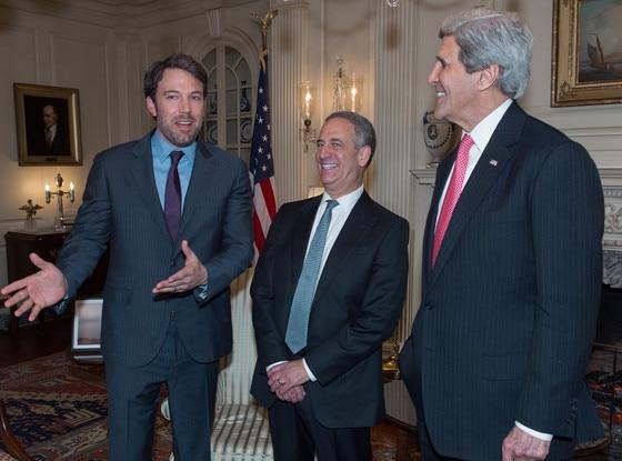 Ben Affleck, Russ Feingold, John Kerry